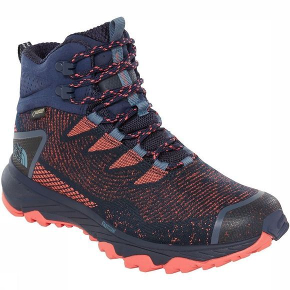 The North Face Schoen Ultra Fastpack III Mid Gore-Tex Woven Zalmroze/Marineblauw