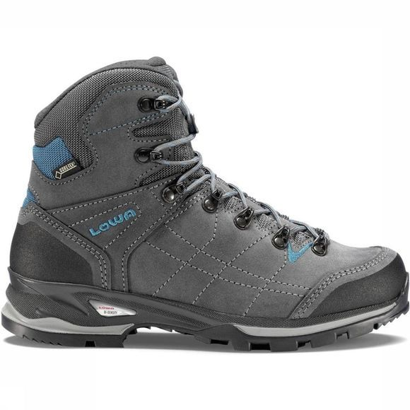 Lowa Chaussure Low Vantage Gore-Tex Mid Small Gris Foncé/Turquoise