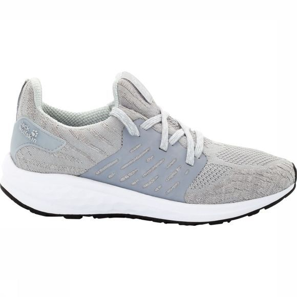 Jack Wolfskin Shoe Coogee Knit Low mid grey/white