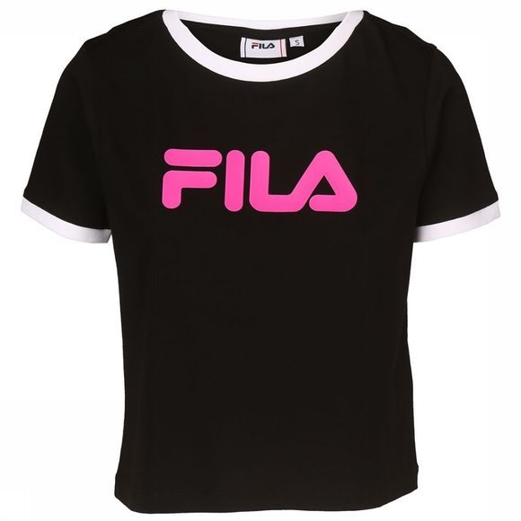 Fila T-Shirt Ashley Cropped Zwart/Fuchsia