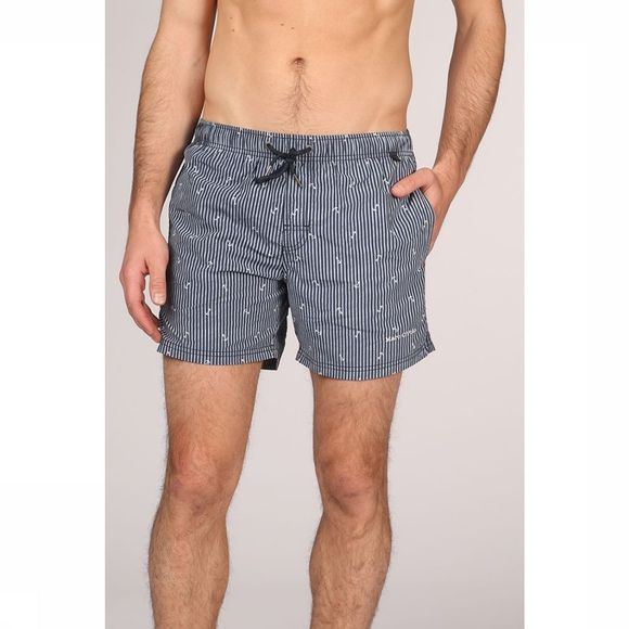 Marc O'Polo Zwemshort Printed Blauw/Wit
