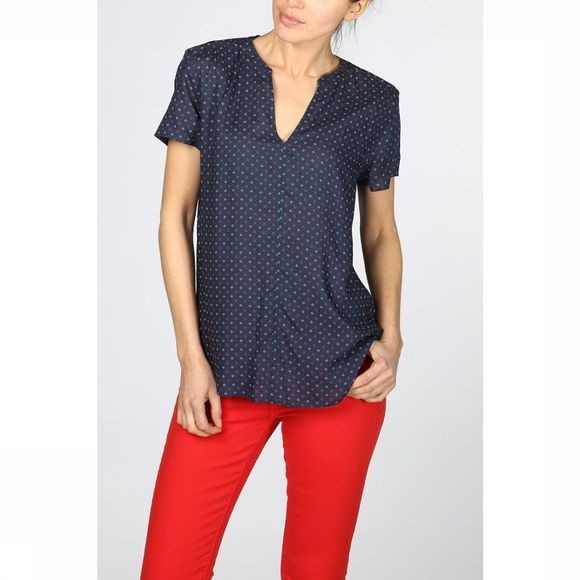Esprit Blouse 029Ee1F008 Donkerblauw