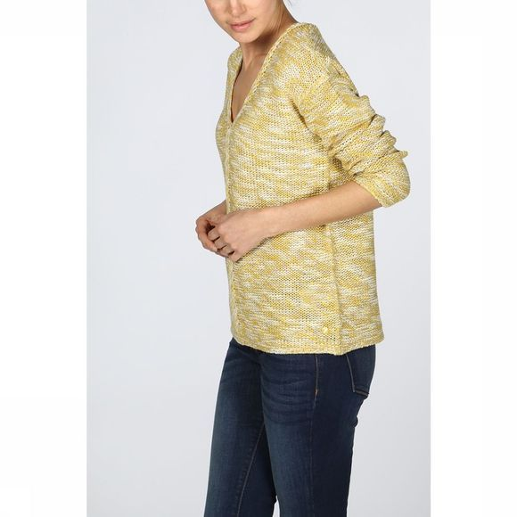 Tom Tailor Pullover 1008694 mid yellow/off white