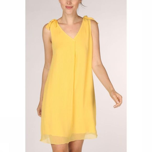 Tom Tailor Robe 1011398 Jaune Clair