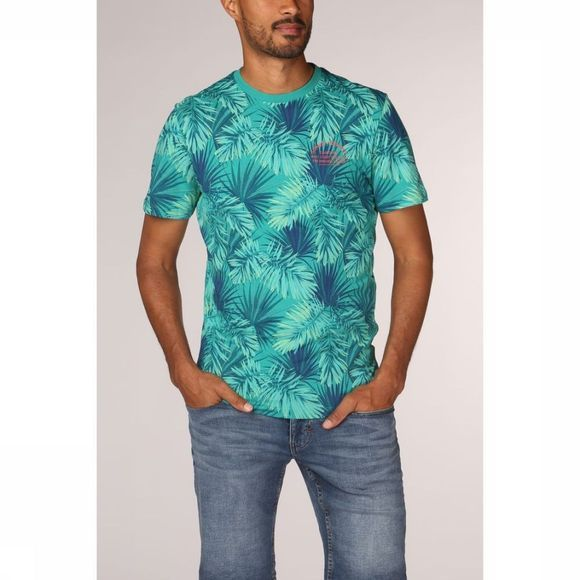 Tom Tailor T-Shirt 1011539 Middengroen/Assortiment Bloem