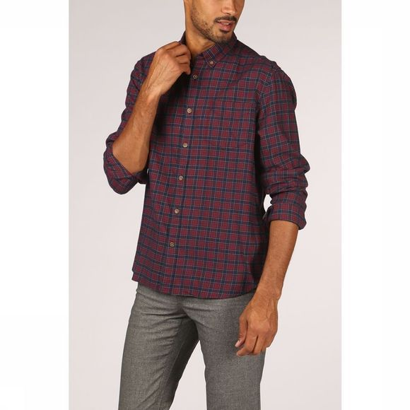 Esprit Shirt 099Ee2F007 Bordeaux/Dark Blue