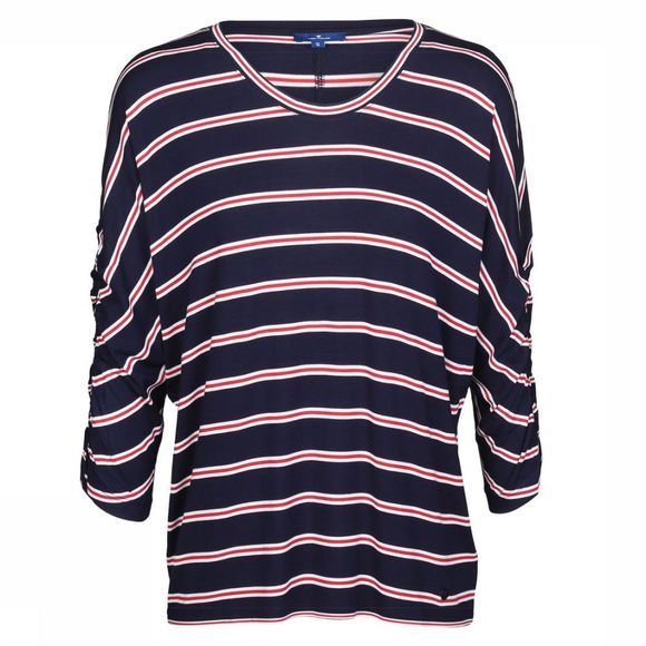 Tom Tailor T-Shirt L1004857 Donkerblauw/Middenrood