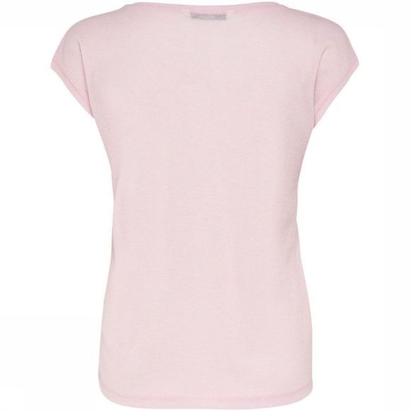 Only T-Shirt Silvery V Neck Lurex mid pink