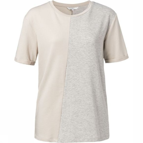 Yaya T-Shirt Jersey Ss With Color Block Light Grey Mixture/Ecru