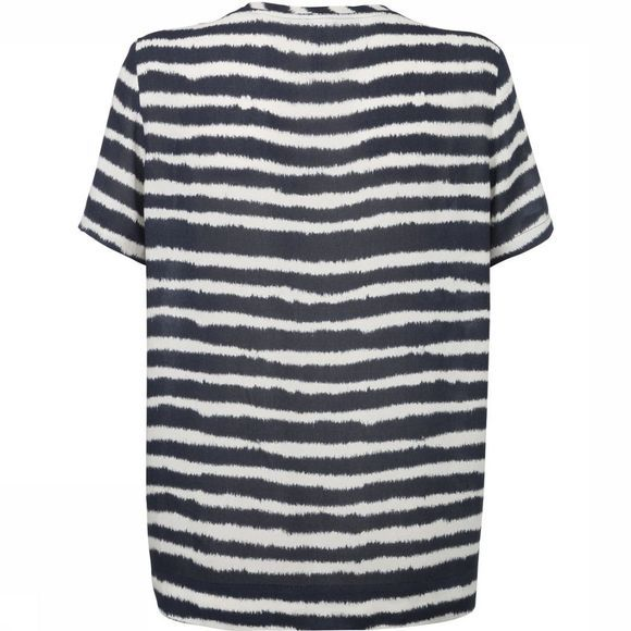 T-Shirt Short Sleeve Stripe Printed Top
