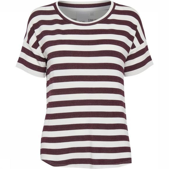 Ichi T-Shirt grass Stripe Ss2 Off White/Bordeaux