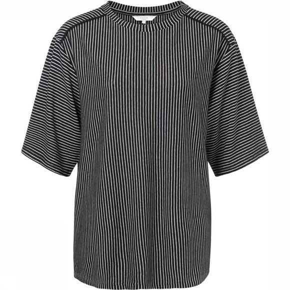 Yaya T-Shirt Striped Half Slv Zwart/Wit