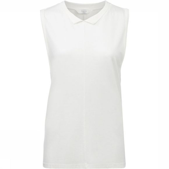 Yaya T-Shirt Sleeveless W. Collar Gebroken Wit