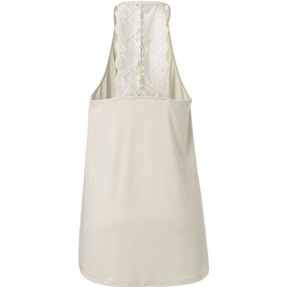 Yaya T-Shirt Halter Top With Lace Detailing On Back Gebroken Wit