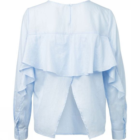 Blouse Woven With Ruffle