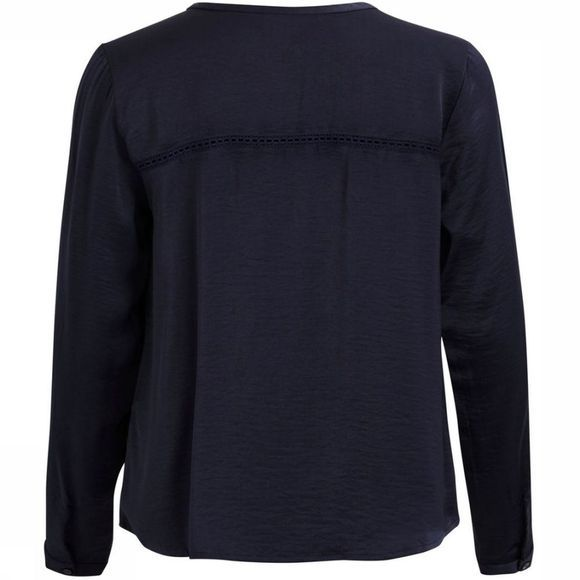 Vila Shirt Vicava Ls V Neck dark blue