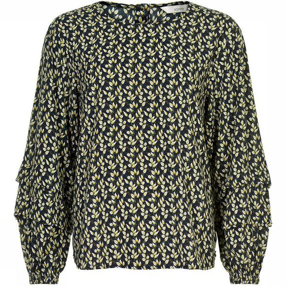 Numph Blouse Nuillaydria Donkerblauw/Assortiment Bloem
