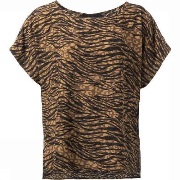 Yaya Blouse Woven Animal Print Donkerbruin/Assortiment Geometrisch