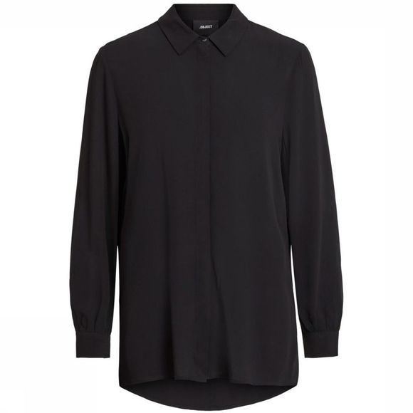 Object Chemise Bay Ls Noos Noir