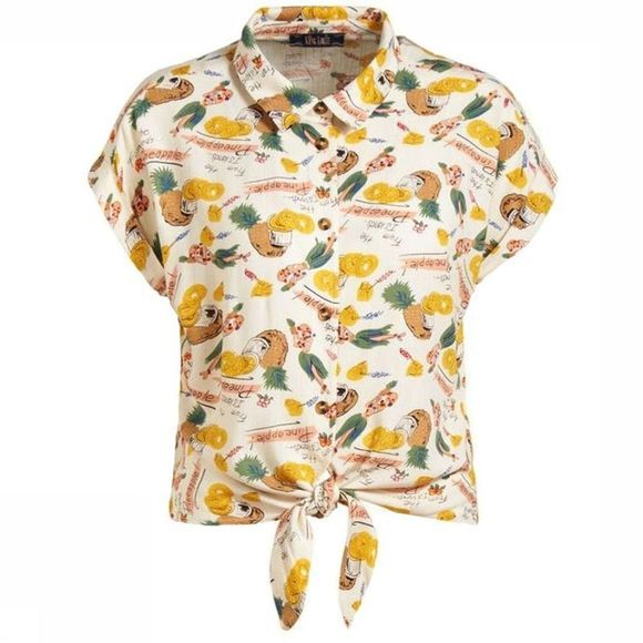 King Louie Shirt Knot Punch white/mid yellow