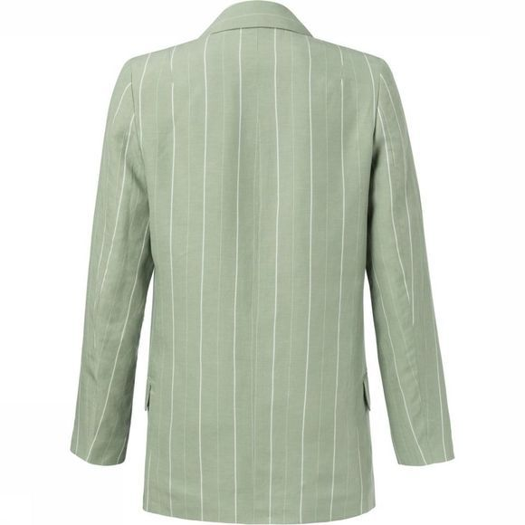 Yaya Blazer Striped Loose Fit Lichtgroen