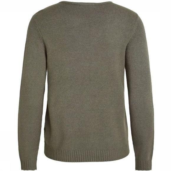 Vila Trui Viril Ls V Neck Knit Middenkaki