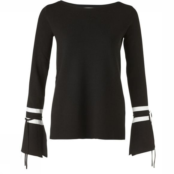 Trui Boatneck W.Contrast Color Stripes At Slvs