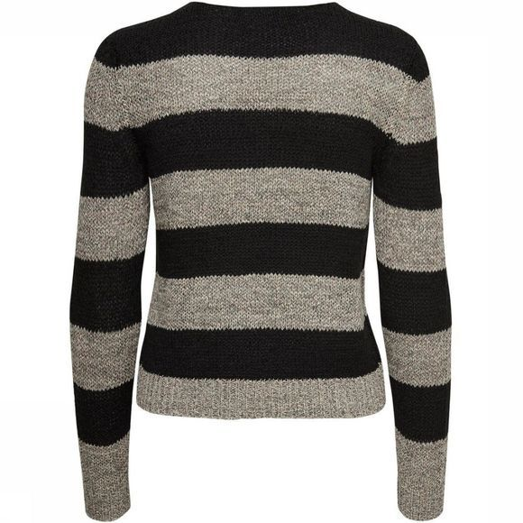 Only Pullover Onlgabbi Ls Stripe black/off white