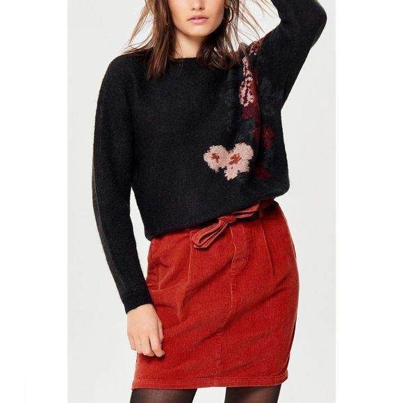 Only Pullover Luzia Ls Long black/Assortment Flower