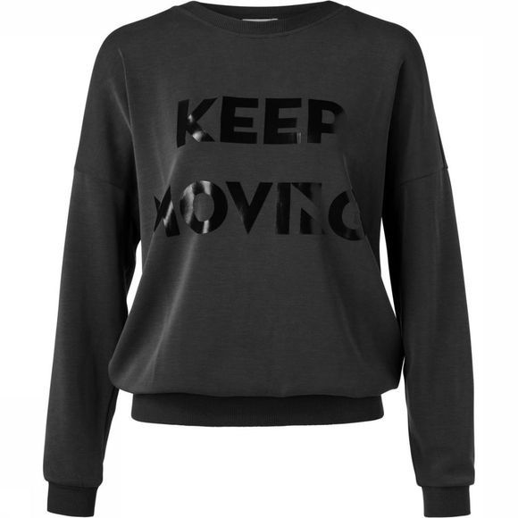 Trui Oversized W. 'Keep Moving' Print