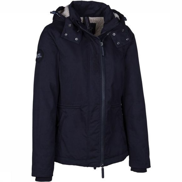 Superdry Jas Hooded Microfibre Boxy Snorkle Windparka Donkerblauw