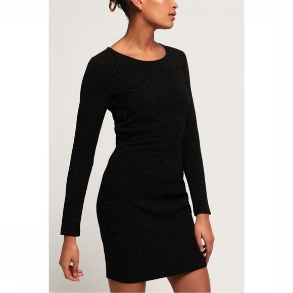 Superdry Jurk Bailey Bodycon Zwart