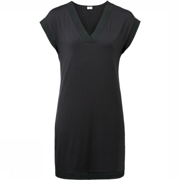 Jurk Loose-Fitting V-Neck With Fabric-Mix Details