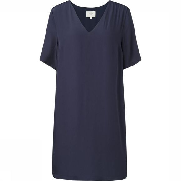 Jurk Woven Straight Dress With V-Neck