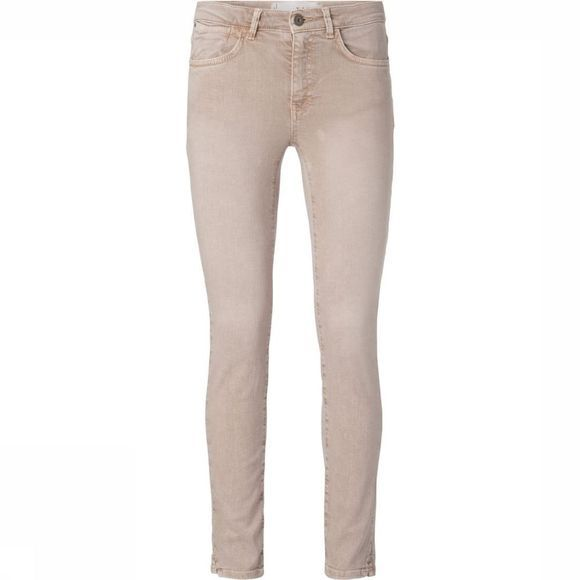 Yaya Broek Coloured Skinny Denim Zandbruin