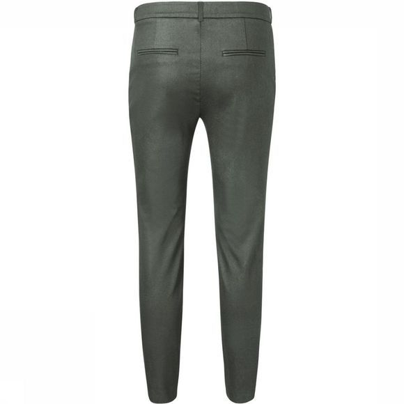 Yaya Broek Metallic Chino Middenkaki
