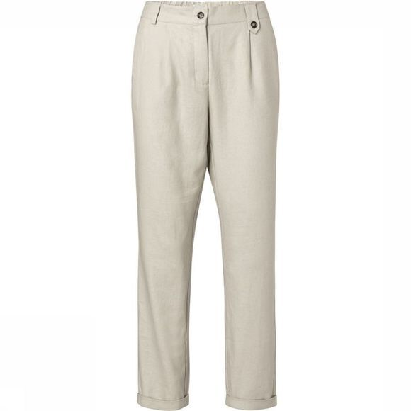 Yaya Broek Linen Mix Tailored Zandbruin
