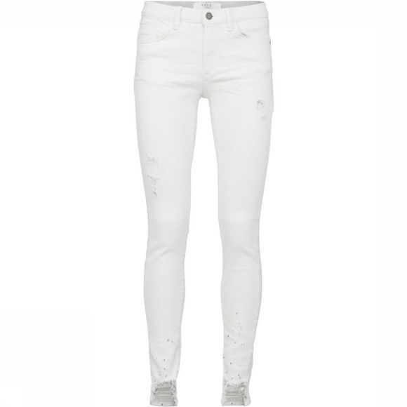 Yaya Jeans Skinny Off White Destroid Denim Wit