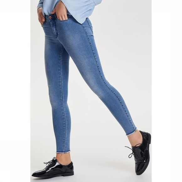 Only Jeans Onlroyal Regular Skinny Ankle mid blue