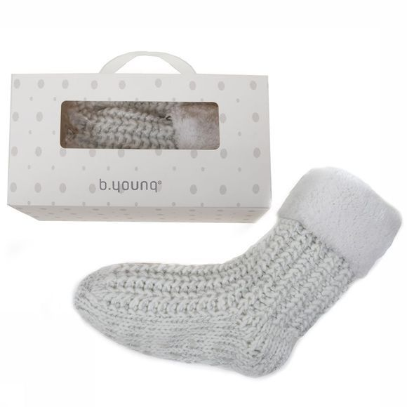 B.Young SOCK BYO WYKKE SOCKS BOX off white