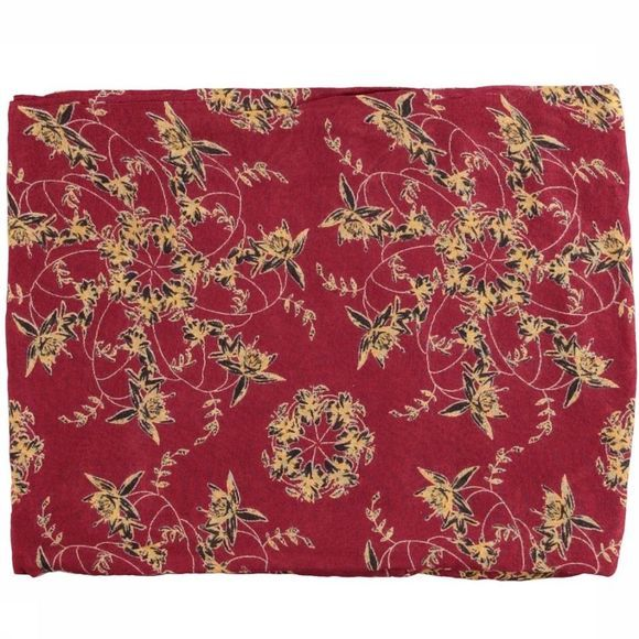 Yaya Sjaal Small Flower Print Bordeaux/Assortiment Bloem