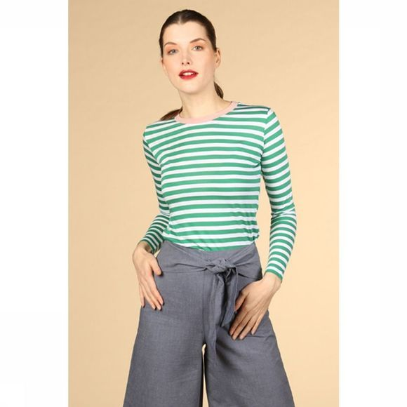 ARMEDANGELS T-Shirt Lara Bold Stripes off white/mid green