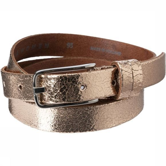 Yaya Riem Metallic Leather Lichtroze