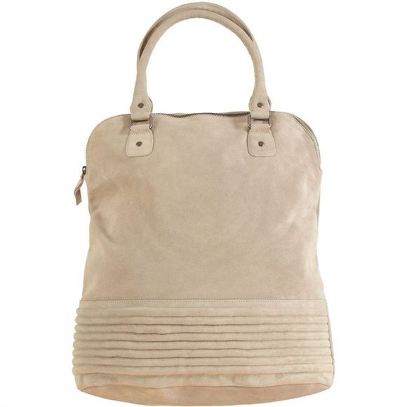 Tas Suede With Rib Detail