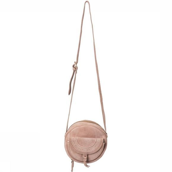 Yaya Tas Small Suede Shoulder Lichtroze