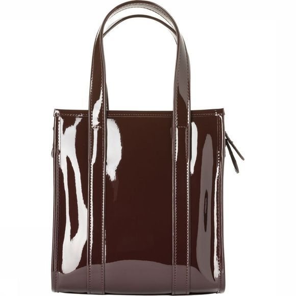 Yaya Tas Small Patent Shopper Bordeaux