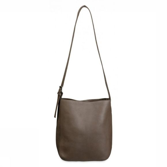 Yaya Tas Leather Tote Purse Middenbruin