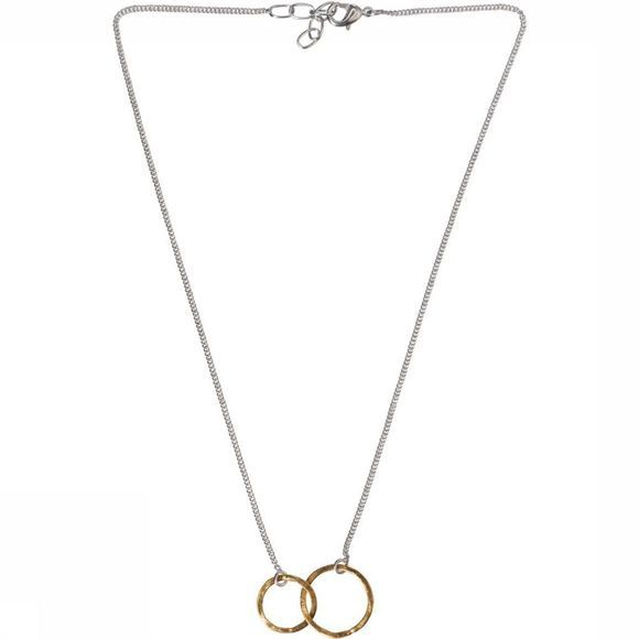 Yaya Ketting Necklace With Hoops Zilver