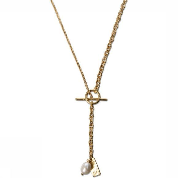 Yaya Ketting Necklace With Small Pearl Goud