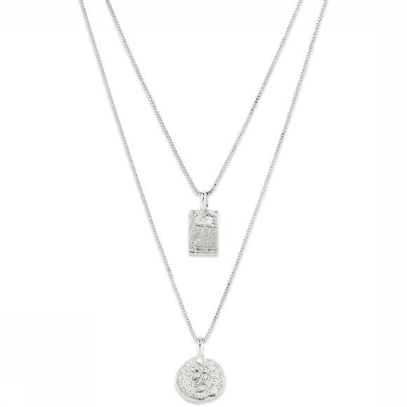 Pilgrim Necklace Valkyria 2 In A Set Silver Plated silver